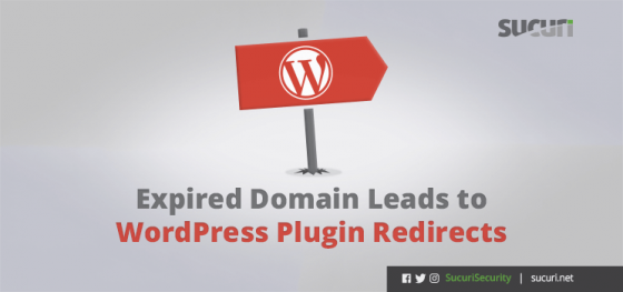 Expired Domain Leads to WordPress Plugin Redirects