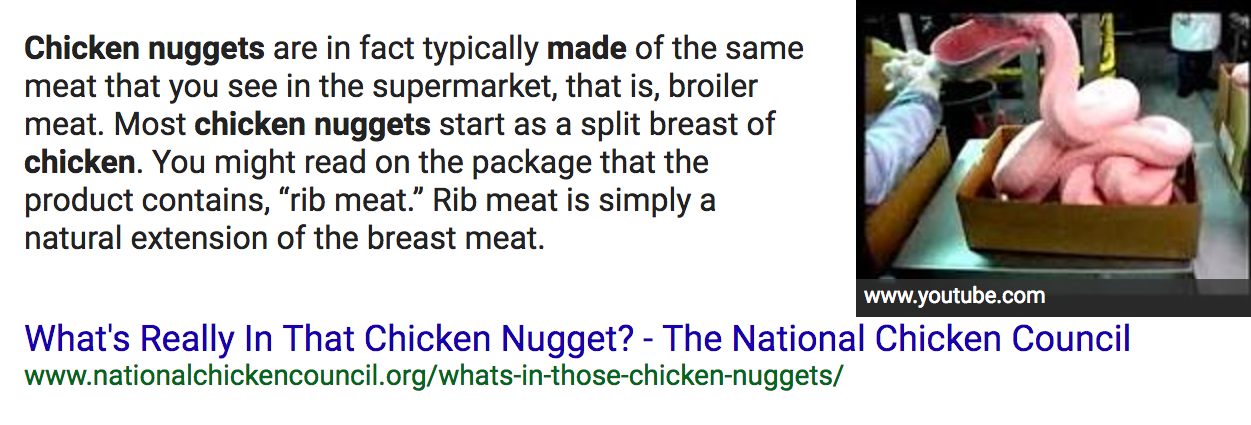 featured snippet example with image
