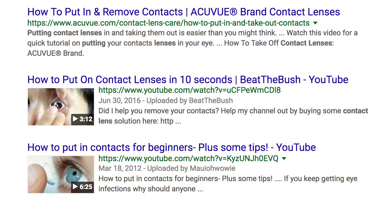 no featured snippet in SERP example