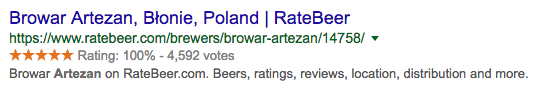 rich snippets example for local SEO