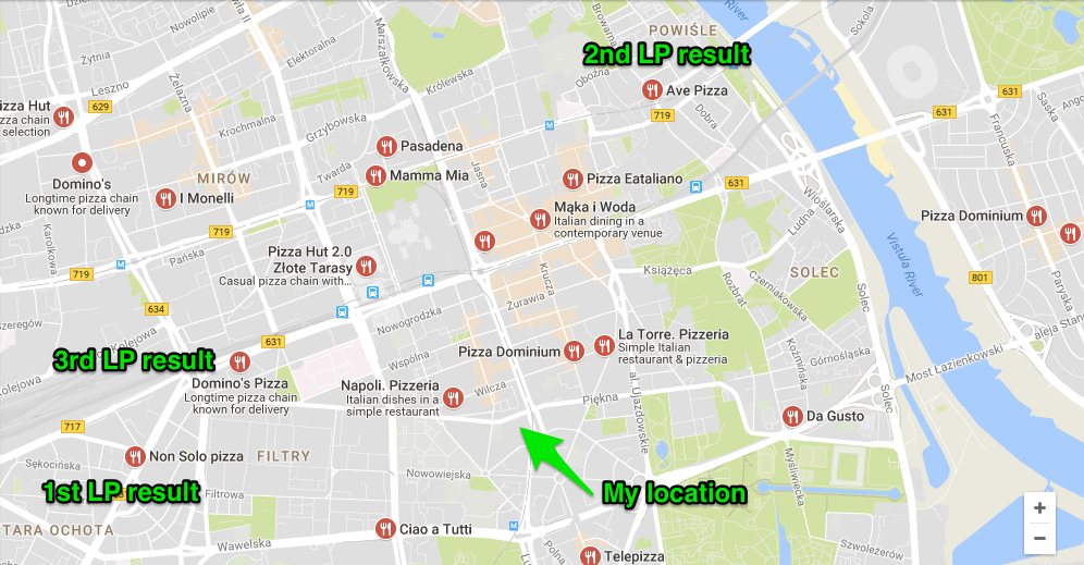 local pack results without desktop geolocation