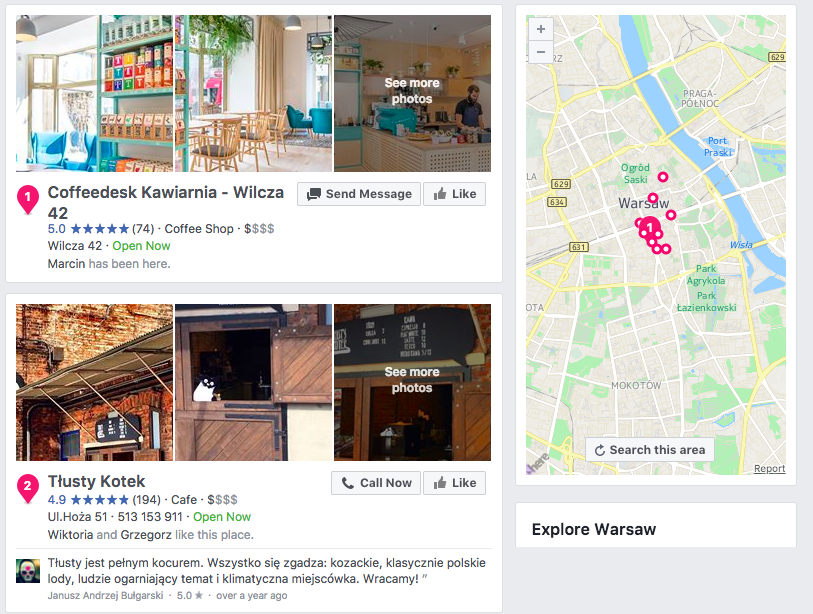 social media citations with facebook places