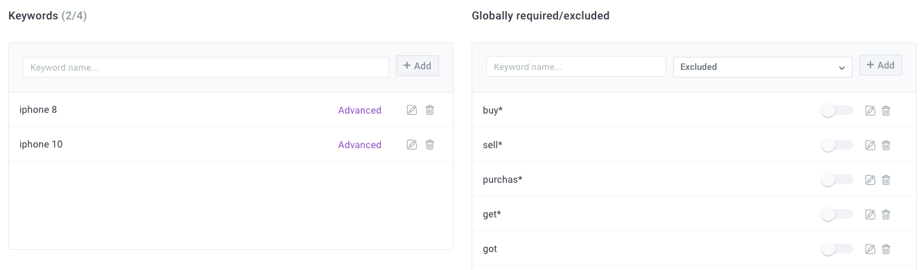 how to select social media market research keywords and terms