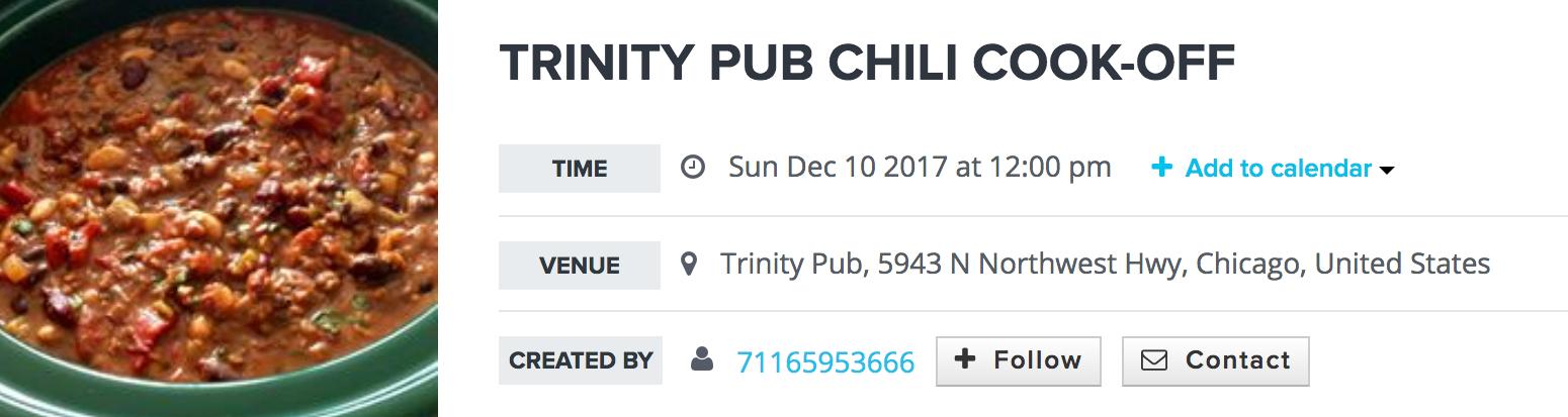social media marketing event listings restaurants