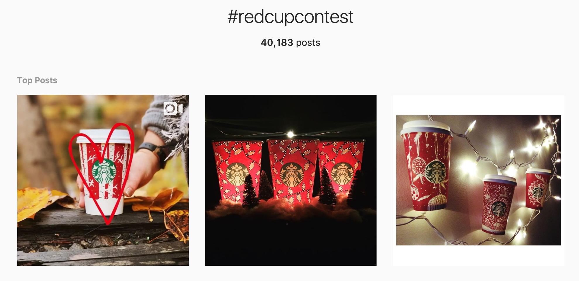 Instagram user-generated content Starbucks