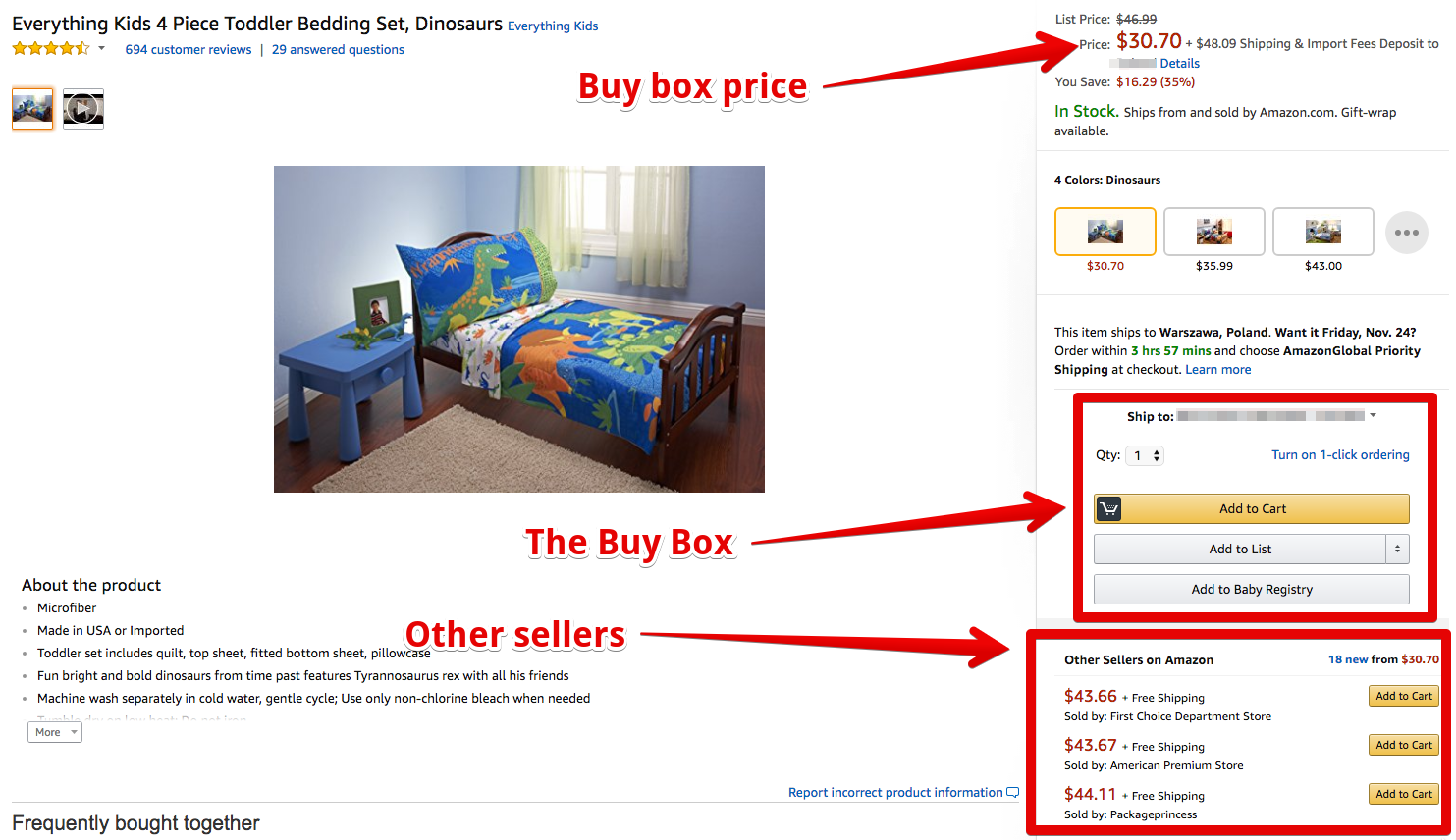 amazon marketplace seo example