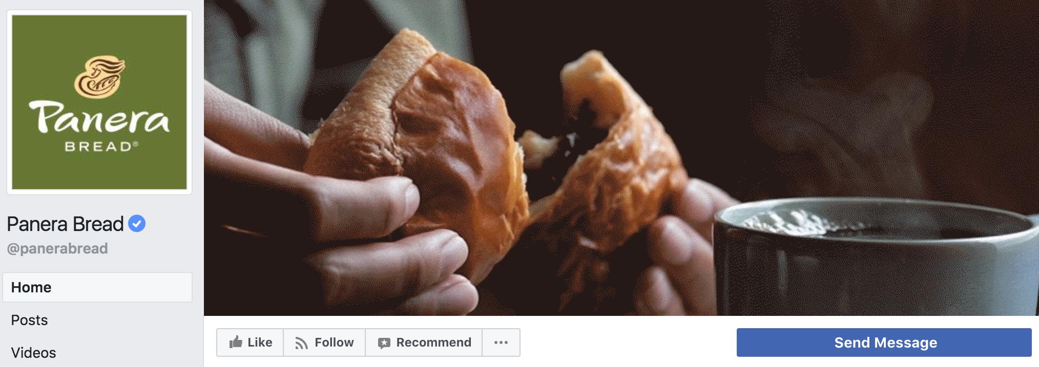 facebook social media marketing panera