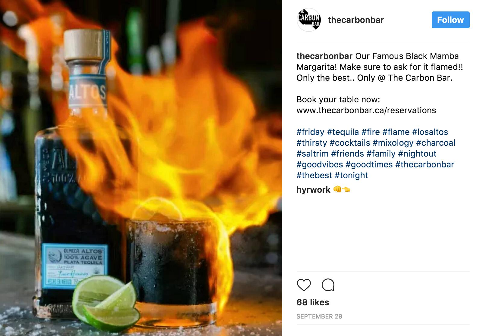 instagram social media marketing bars