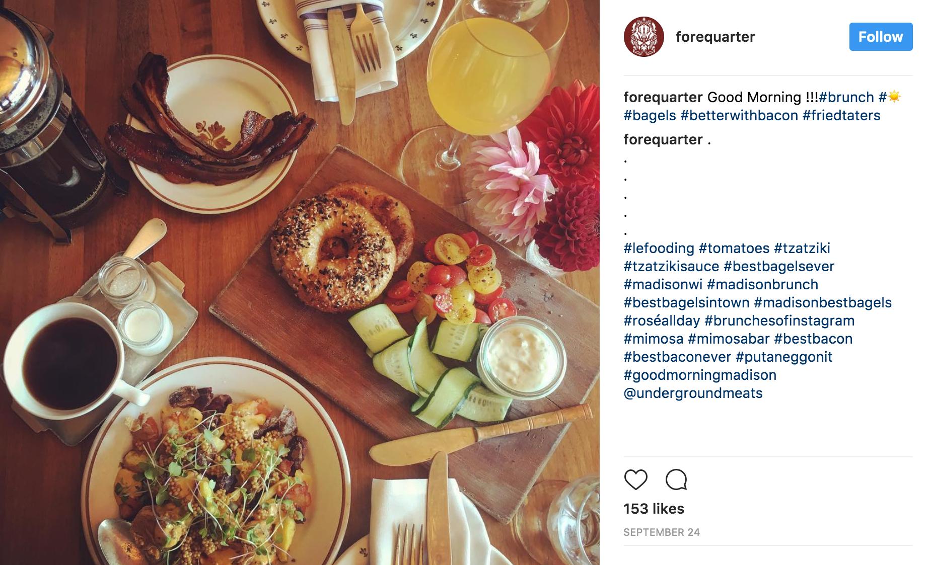 instagram social media marketing restaurants