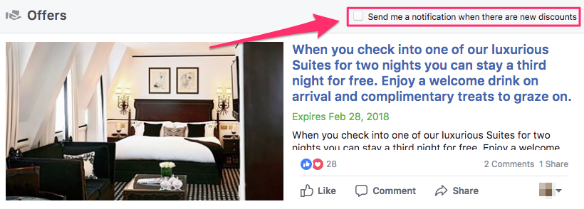 facebook offers hotel social media strategy
