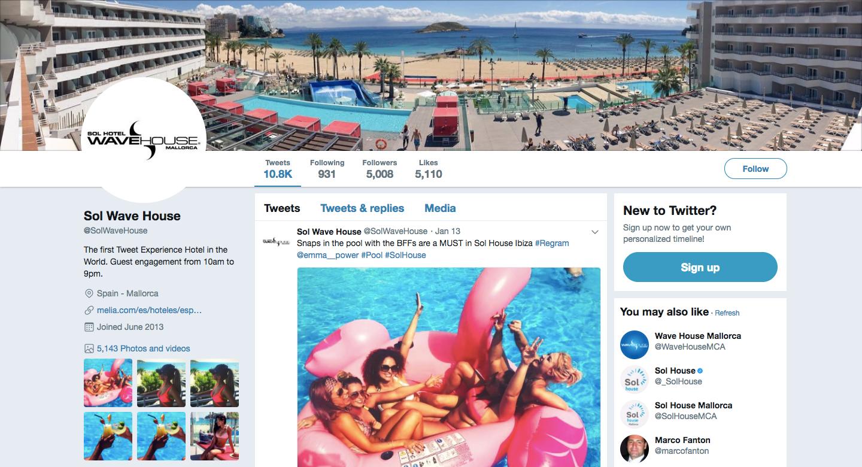 twitter hotel social media strategy