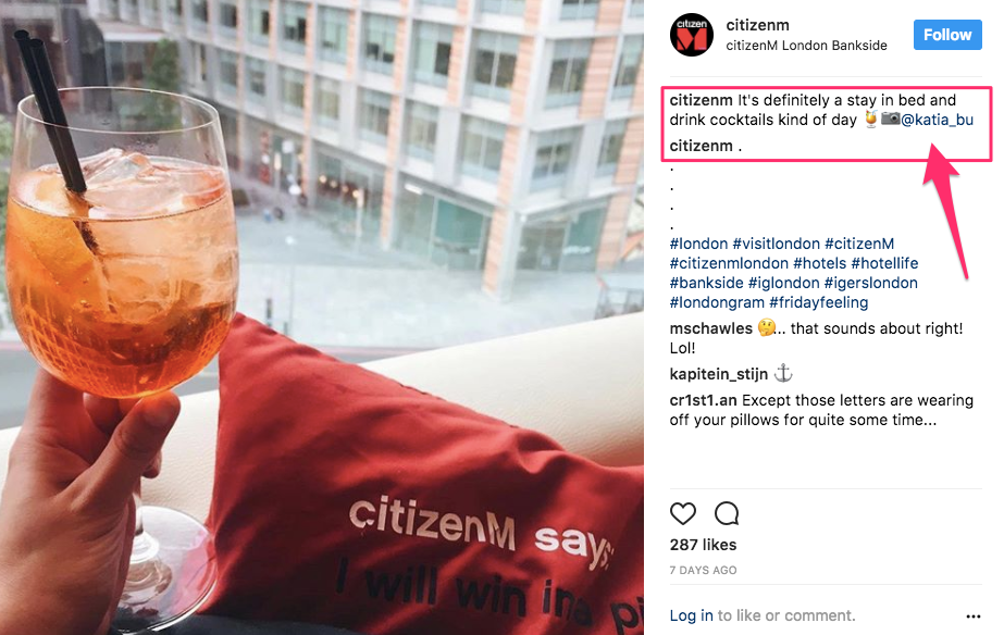 user-generated content for instagram hotel social media