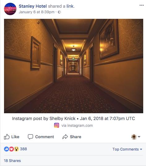 instagram and facebook stanley hotel