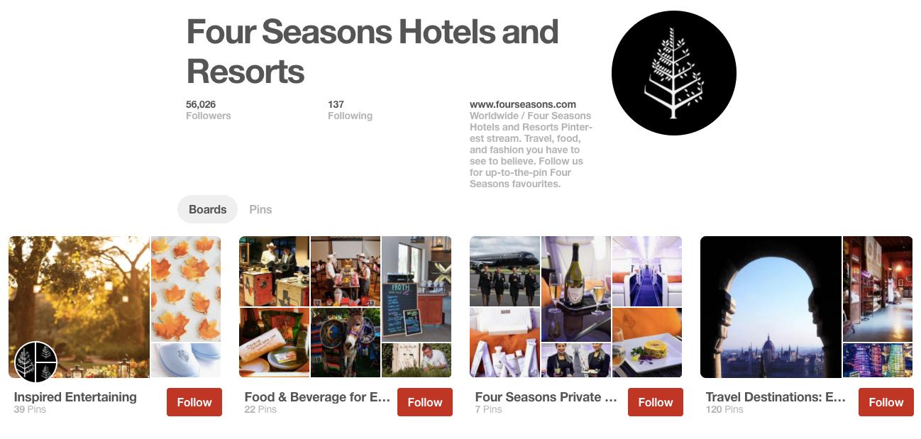 best hotel social media strategy for pinterest