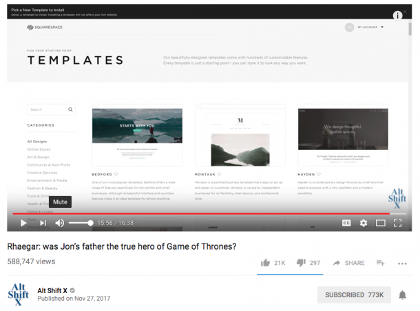 youtube video product placement