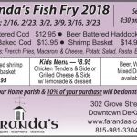 Friday Fish Fry at Faranda's