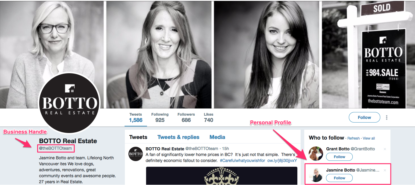 real estate agency twitter profile