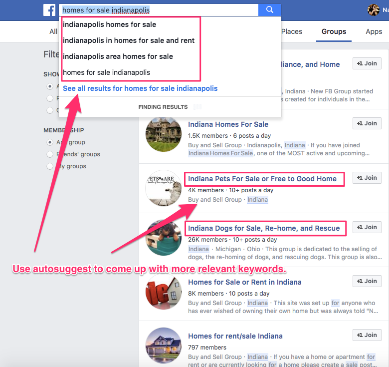 joining facebook groups for real estate agents