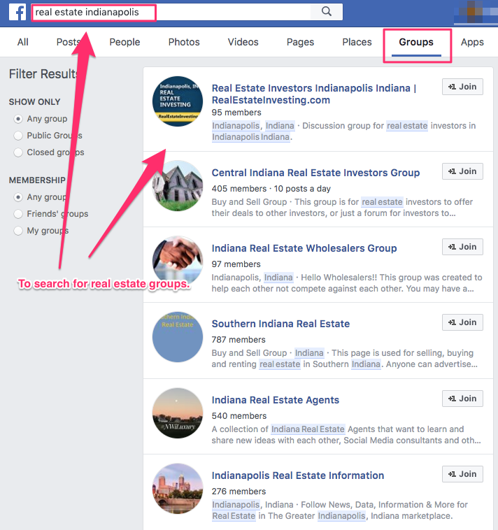 real estate groups on facebook