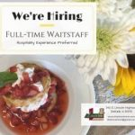 Now Hiring Waitstaff!