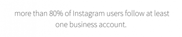 more than 80% of Instagram users follow at least one business account.