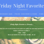 Friday Night Favorites at Faranda's Tonight!